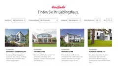Hausfinder: bereits gebaute Kundenhäuser entdecken